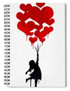 The Girl With The Red Balloons Spiral Notebook