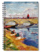 The Gleize Bridge Over The Vigneyret Canal  Spiral Notebook