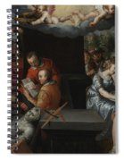 The Glorification Of Art And Diligence And The Punishment Of Gluttony And Earthly Pleasures Spiral Notebook