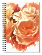 The Glow Of Roses Spiral Notebook