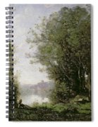 The Goatherd Beside The Water  Spiral Notebook