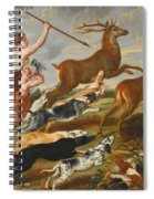 The Goddess Diana And Her Nymphs Hunting Deer Spiral Notebook