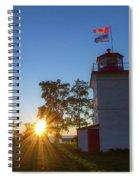 The Goderich Lighthouse At Sunset Spiral Notebook