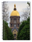 The Golden Dome Spiral Notebook