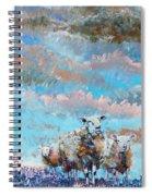The Golden Flock - Colorful Sheep Art Spiral Notebook
