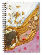 The Golden Flow Of Love And Determination Spiral Notebook
