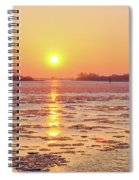 The Golden Hour And Ice Drift Spiral Notebook