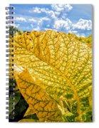 The Golden Leaf Spiral Notebook