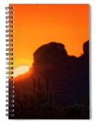The Golden Light Of The Sonoran Desert  Spiral Notebook