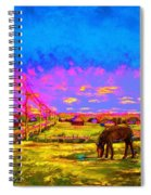 The Golden Meadow Spiral Notebook