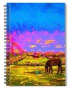 The Golden Meadow Spiral Notebook