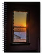 The Golden Sunset Spiral Notebook