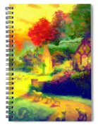 The Good Shepherd Painting In Hotty Totty  Spiral Notebook