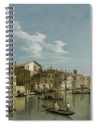 The Grand Canal In Venice From Palazzo Flangini To Campo San Marcuola Spiral Notebook