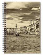 The Grand Canal - Paint Sepia Spiral Notebook