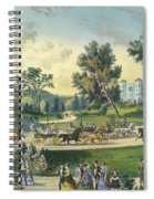 The Grand Drive, Central Park, New York, 1869 Spiral Notebook