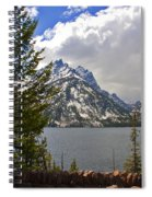 The Grand Tetons And The Lake Spiral Notebook