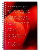 The Gratitude Of A Broken Flower  Spiral Notebook