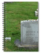 The Grave Of Mathew Brady -- Renowned Photographer Of The American Civil War Spiral Notebook