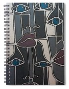 The Gray Faces Spiral Notebook