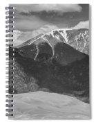 The Great Colorado Sand Dunes  125 Black And White Spiral Notebook