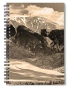 The Great Colorado Sand Dunes In Sepia Spiral Notebook