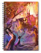 The Great Fire Of Woman Spiral Notebook