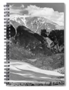 The Great Sand Dune Valley Bw Spiral Notebook
