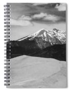 The Great Sand Dunes And Sangre De Cristo Mountains - Bw Spiral Notebook