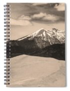 The Great Sand Dunes And Sangre De Cristo Mountains - Sepia Spiral Notebook