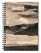 The Great Sand Dunes Panorama 2 Sepia Spiral Notebook