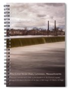 The Great Stone Dam Lawrence, Massachusetts Spiral Notebook