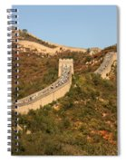 The Great Wall On Beautiful Autumn Day Spiral Notebook