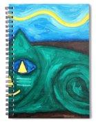 The Green Cat Spiral Notebook