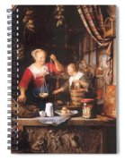 The Grocery Shop 1672 Spiral Notebook