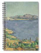 The Gulf Of Marseilles Seen From L'estaque Spiral Notebook