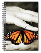 The Hands And The Butterfly Spiral Notebook