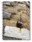 The Hanging Jar - Rough Weathered Stones Rust And Ceramics - A Vertical View Spiral Notebook
