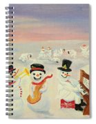 The Happy Snowman Band Spiral Notebook