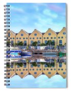The Harbor At Galway Spiral Notebook