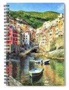 The Harbor At Rio Maggiore Spiral Notebook