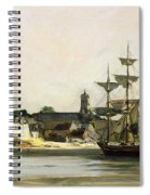 The Harbour At Honfleur Spiral Notebook