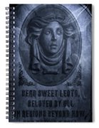 The Headstone Of Madame Leota Spiral Notebook