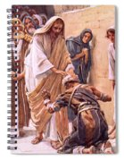 The Healing Of The Leper Spiral Notebook