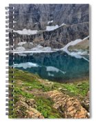 The Heart Of Many Glacier Spiral Notebook