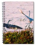 The Heron And The Egret Spiral Notebook