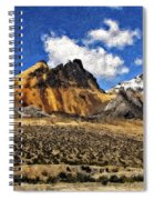 The High Andes Painted Version Spiral Notebook
