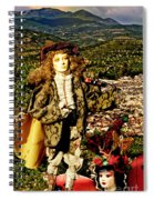 The Hills Are Alive In Santorini Spiral Notebook