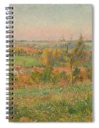 The Hills Of Thierceville Seen From The Country Lane Spiral Notebook