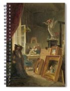 The History Painter Spiral Notebook